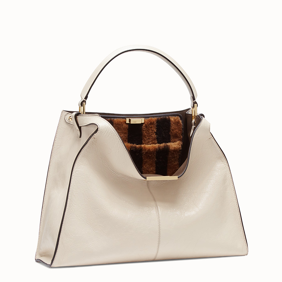 FENDI PEEKABOO X-LITE - White leather bag - view 4 detail