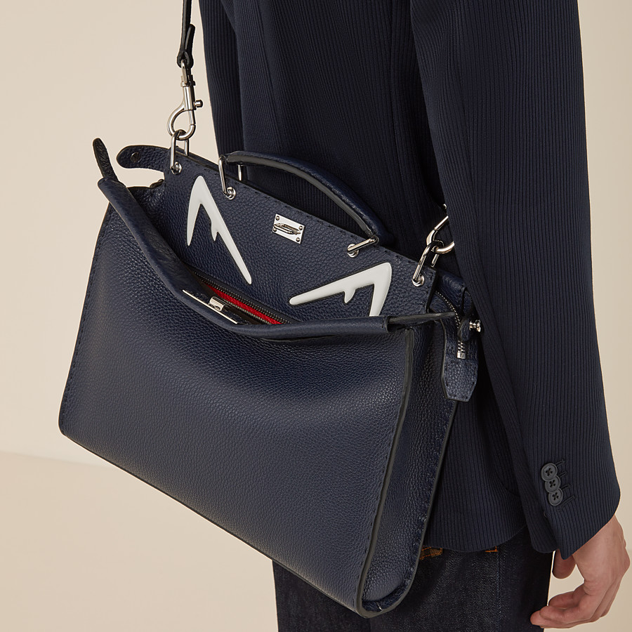 FENDI PEEKABOO FIT - Blue leather bag - view 5 detail