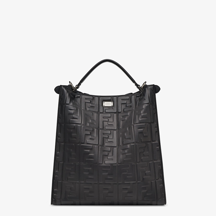 FENDI PEEKABOO X-LITE FIT - Black nappa leather bag - view 4 detail