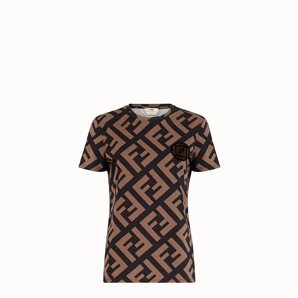 FENDI T-SHIRT - T-shirt in cotone multicolor - vista 1 thumbnail piccola