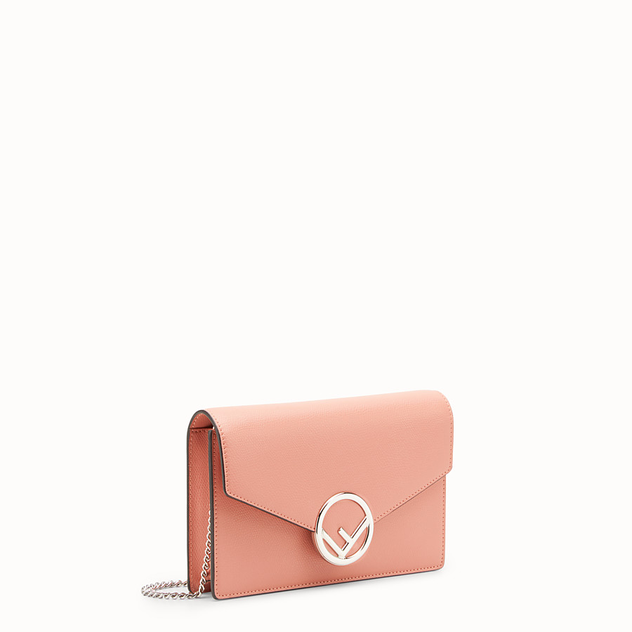 FENDI WALLET ON CHAIN - Minibag in pelle rosa - vista 2 dettaglio
