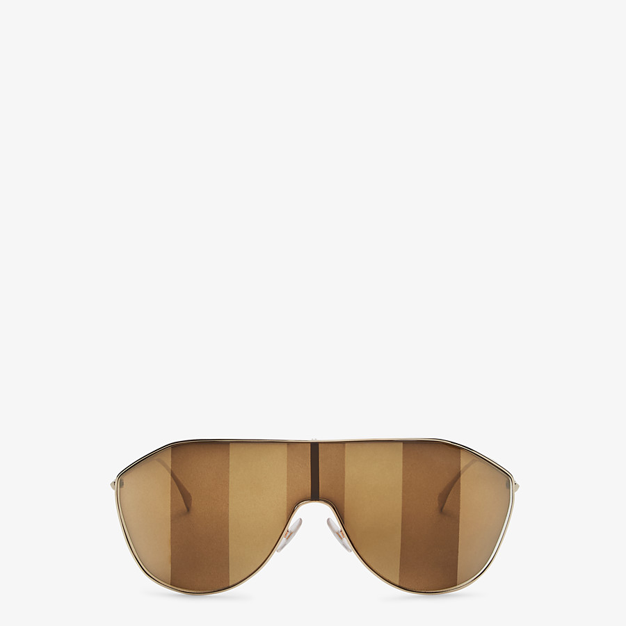 FENDI FF FAMILY - Metal sunglasses with Pequin motif - view 1 detail