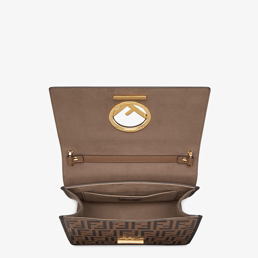 FENDI KAN I F - Brown leather bag - view 5 detail