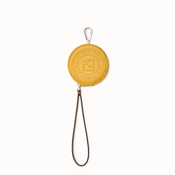 FENDI COIN PURSE - Yellow leather charm - view 1 small thumbnail