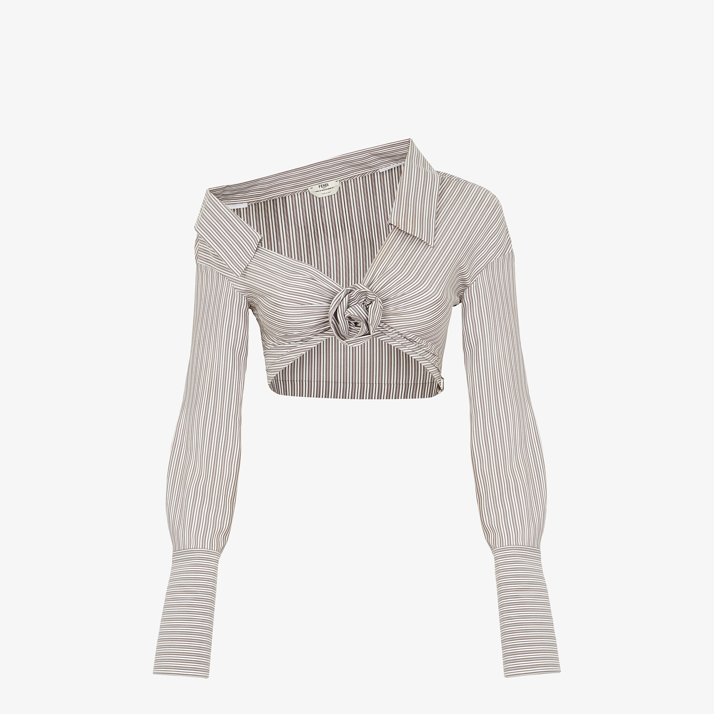 FENDI SHIRT - Printed silk shirt - view 1 detail