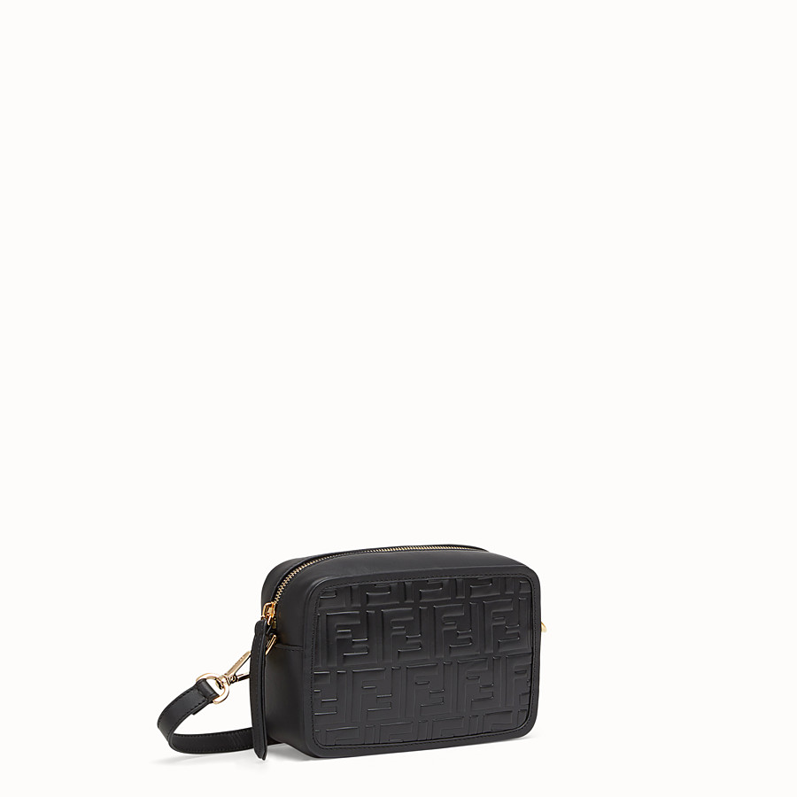 FENDI MINI CAMERA CASE - Black leather bag - view 2 detail