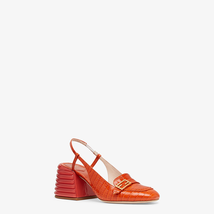 FENDI SLINGBACK - Red leather Promenades - view 2 detail