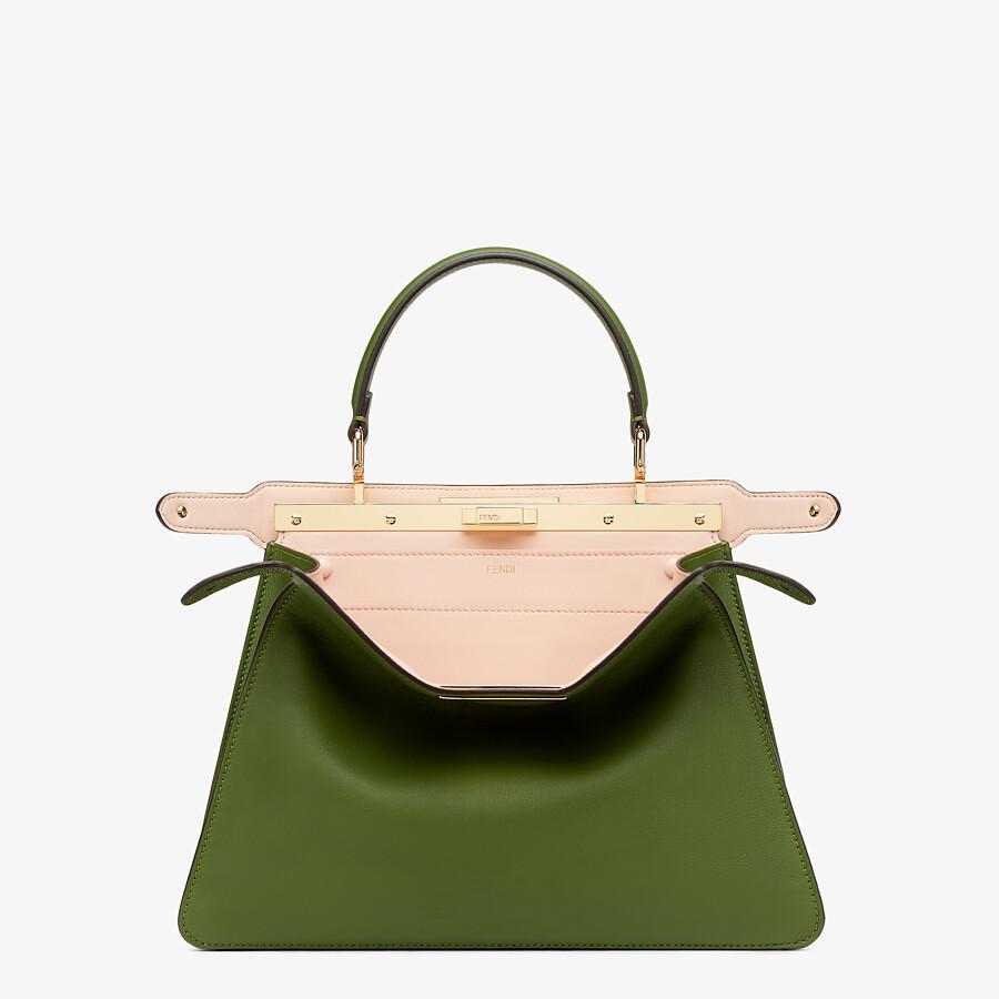 FENDI PEEKABOO ISEEU MEDIUM - Green leather bag - view 3 detail