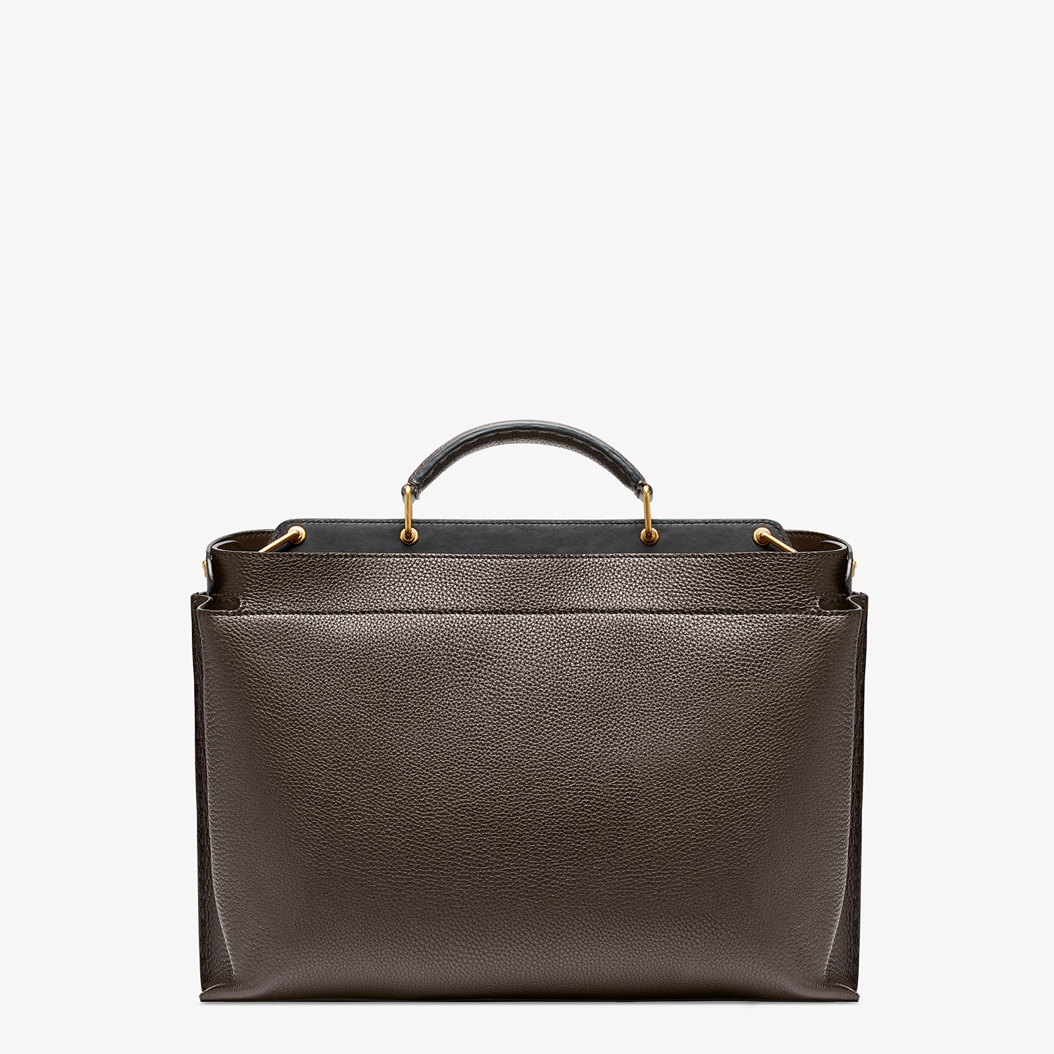 FENDI PEEKABOO ICONIC ESSENTIAL - Brown leather bag - view 3 detail