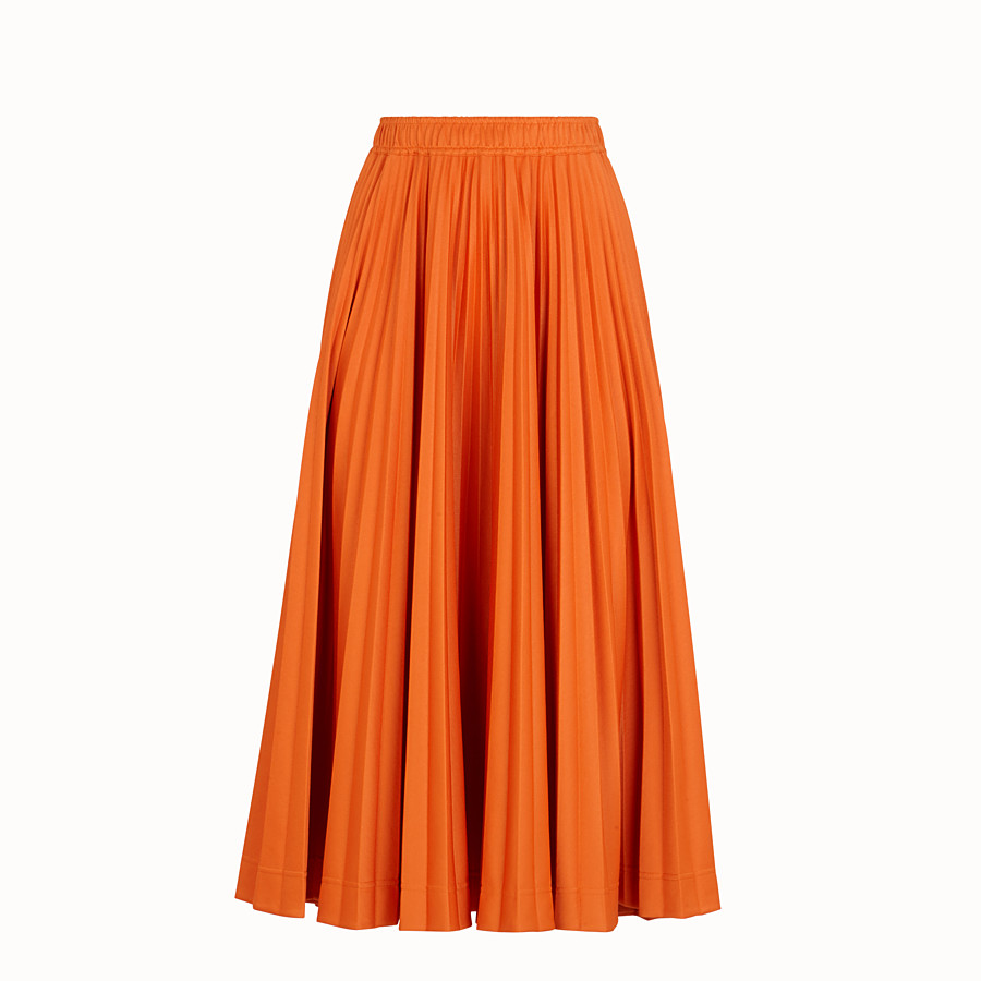 FENDI SKIRT - Orange cotton jersey skirt - view 1 detail