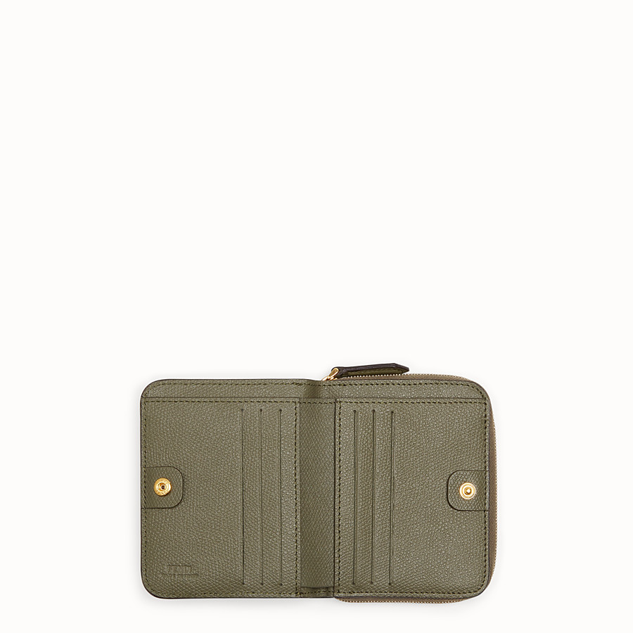 FENDI MEDIUM ZIP-AROUND - Green leather wallet - view 4 detail