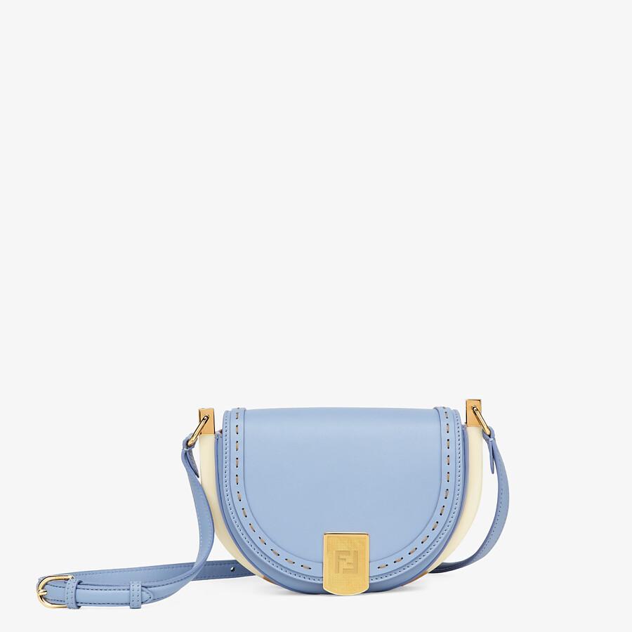 FENDI MOONLIGHT - Light blue leather bag - view 1 detail