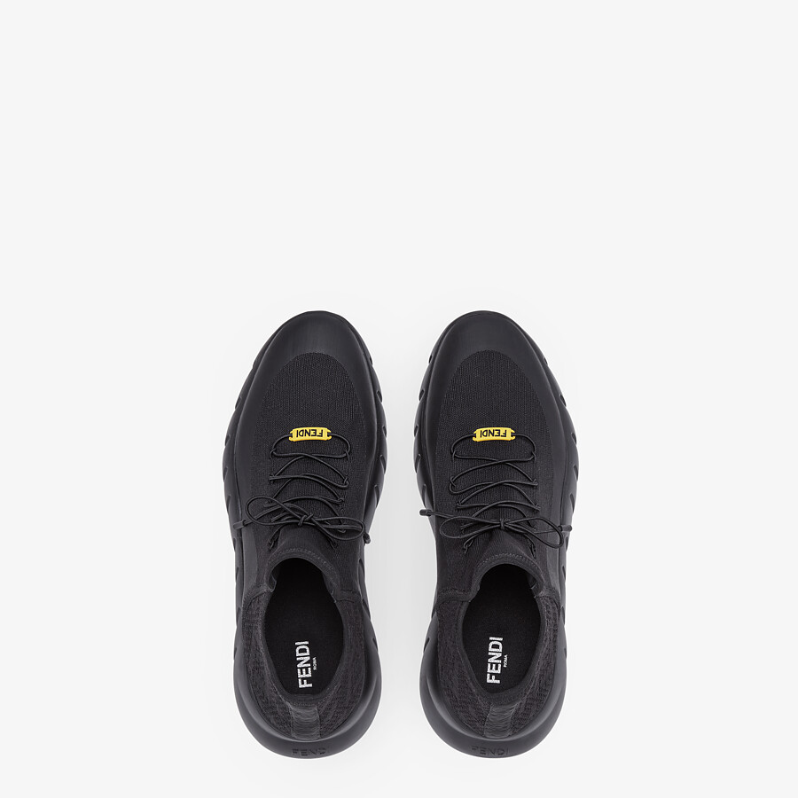 FENDI SNEAKERS - Black mesh running shoes - view 4 detail