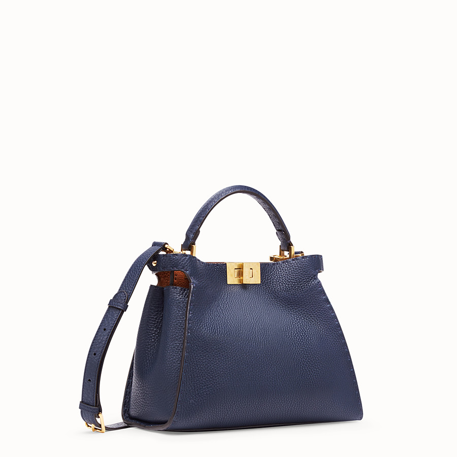 FENDI PEEKABOO ICONIC ESSENTIALLY - Borsa in pelle blu - vista 3 dettaglio