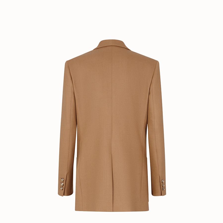 FENDI JACKET - Beige wool jacket - view 2 detail