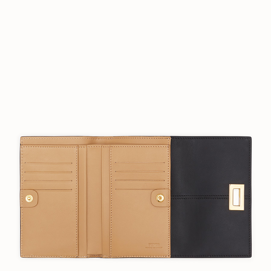 FENDI WALLET - Black leather cardholder - view 4 detail
