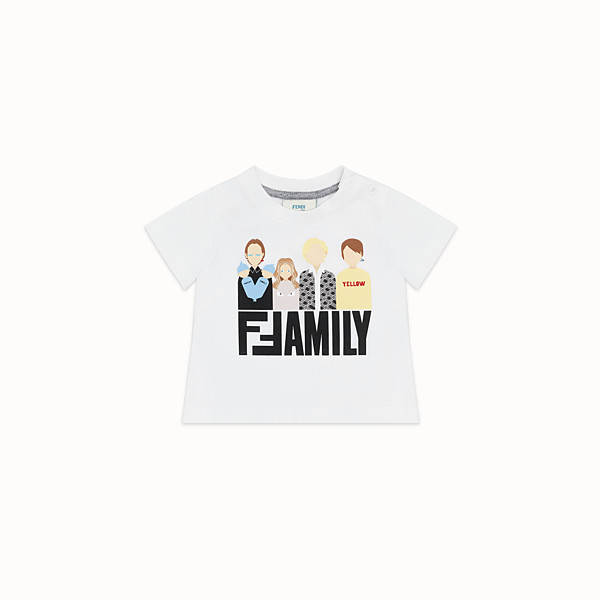 FENDI T-SHIRT - White jersey T-shirt - view 1 small thumbnail