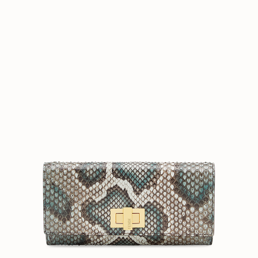 FENDI CONTINENTAL - Green python wallet - view 1 detail