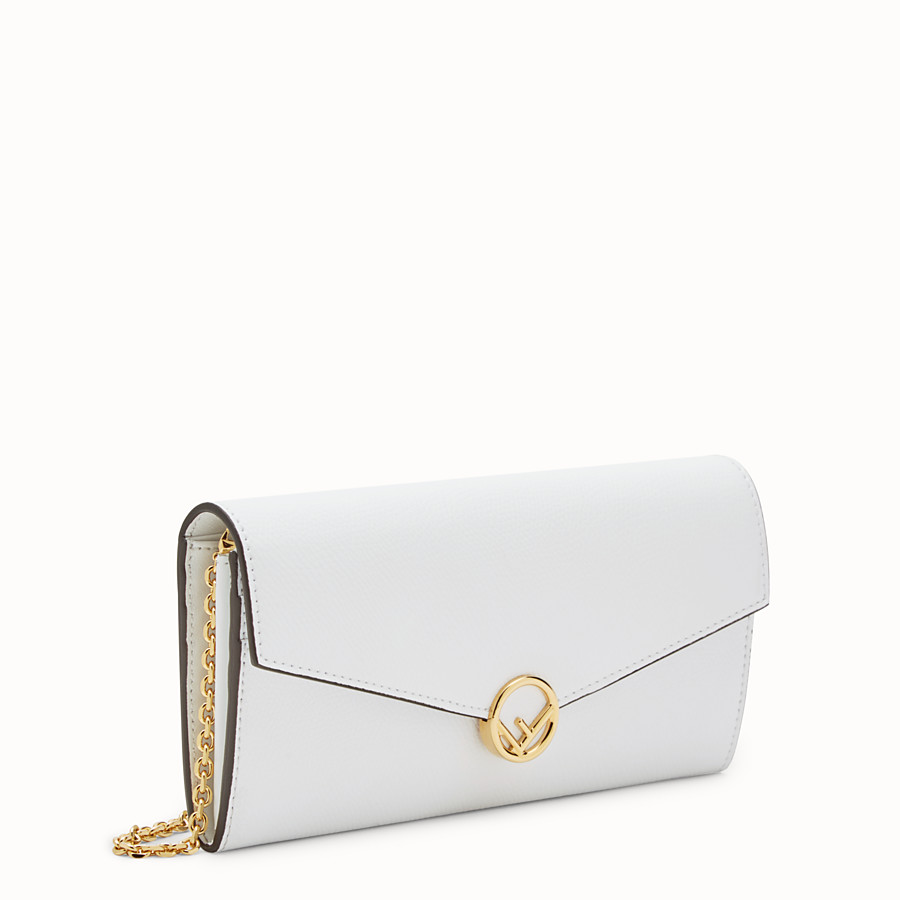 FENDI CONTINENTAL WITH CHAIN - White leather wallet - view 2 detail