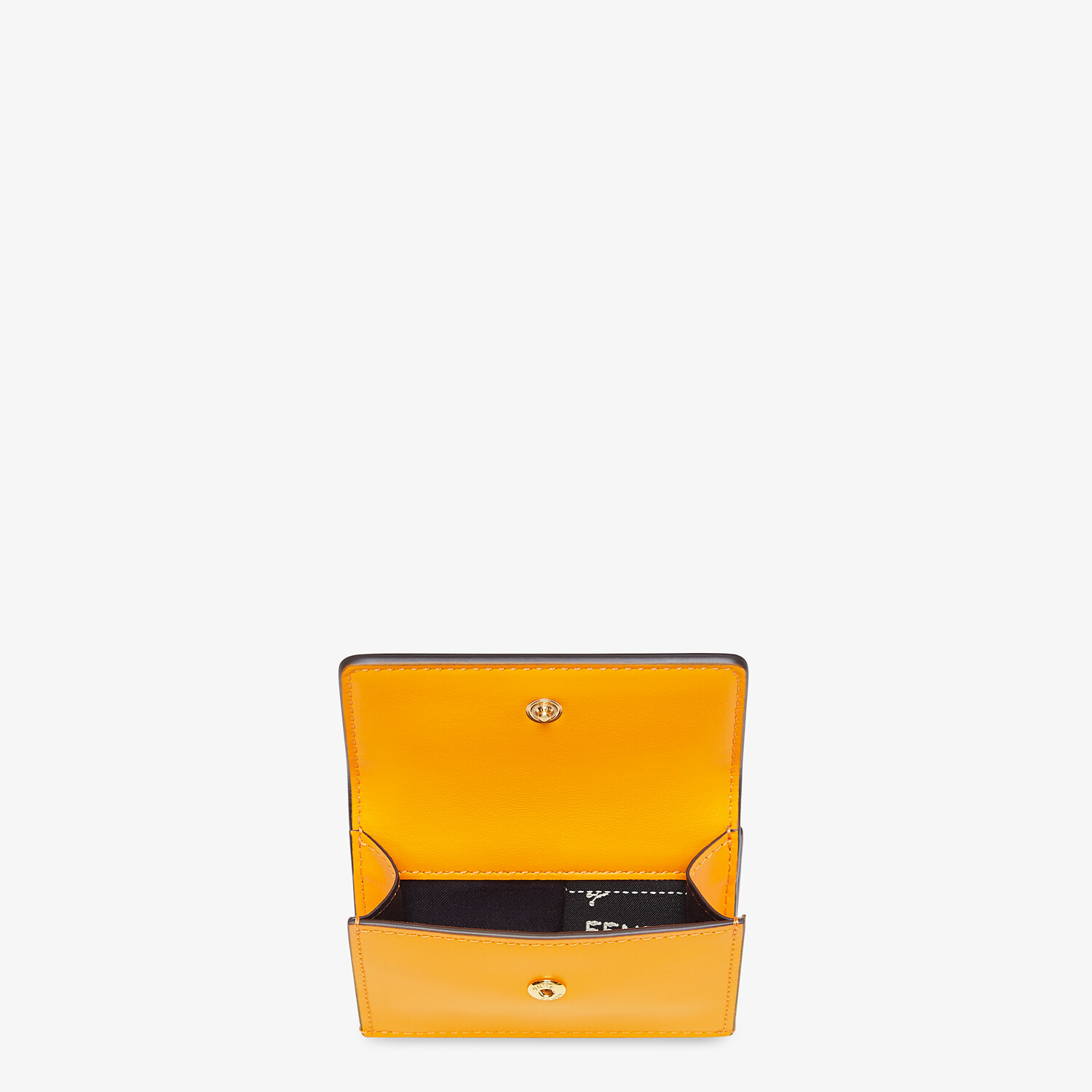 FENDI MICRO TRIFOLD - Orange leather wallet - view 3 detail