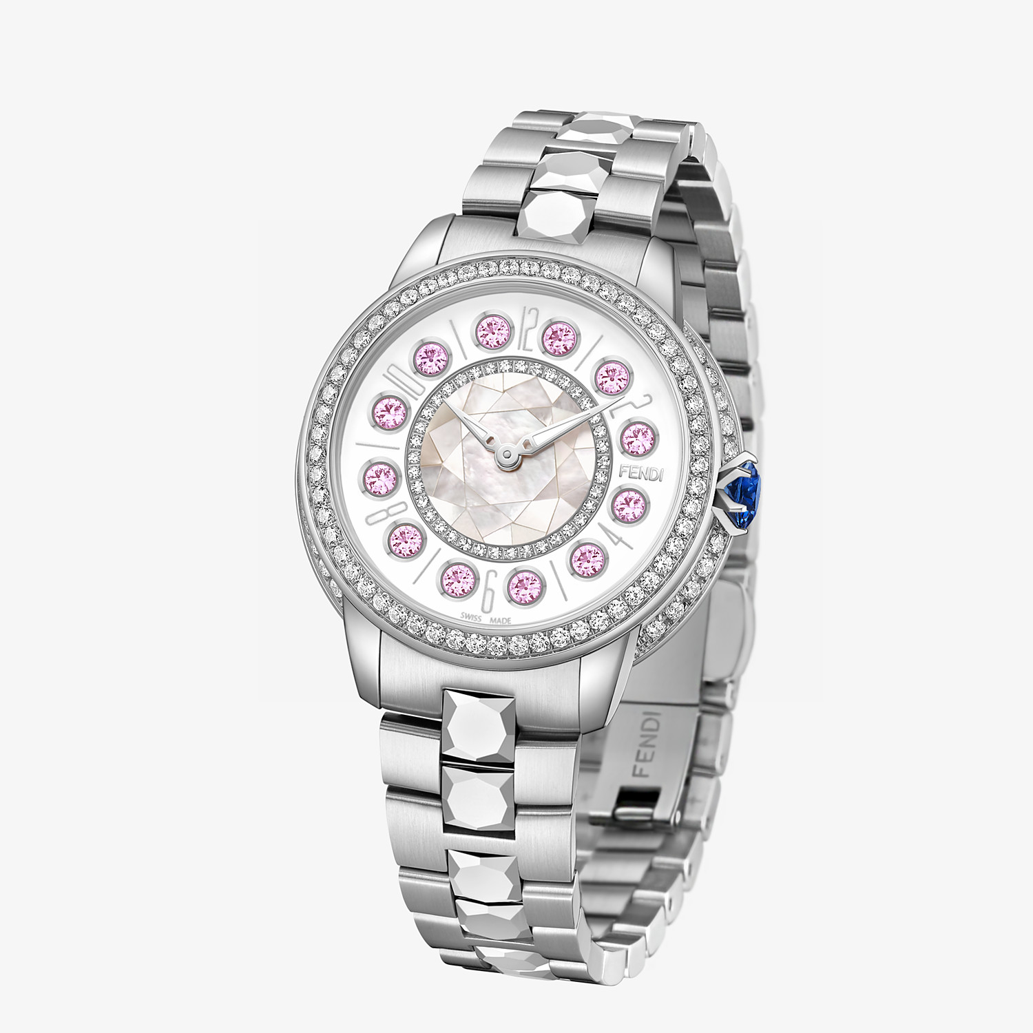 FENDI FENDI ISHINE - 33 MM - Watch with diamonds and rotating precious stones - view 2 detail