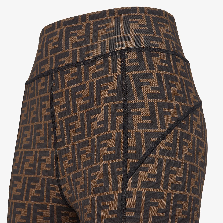 FENDI LEGGINGS - Brown Lycra® leggings - view 3 detail