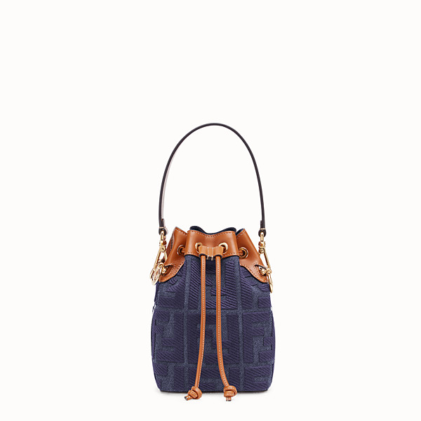 FENDI MON TRESOR - Blue denim minibag - view 1 small thumbnail