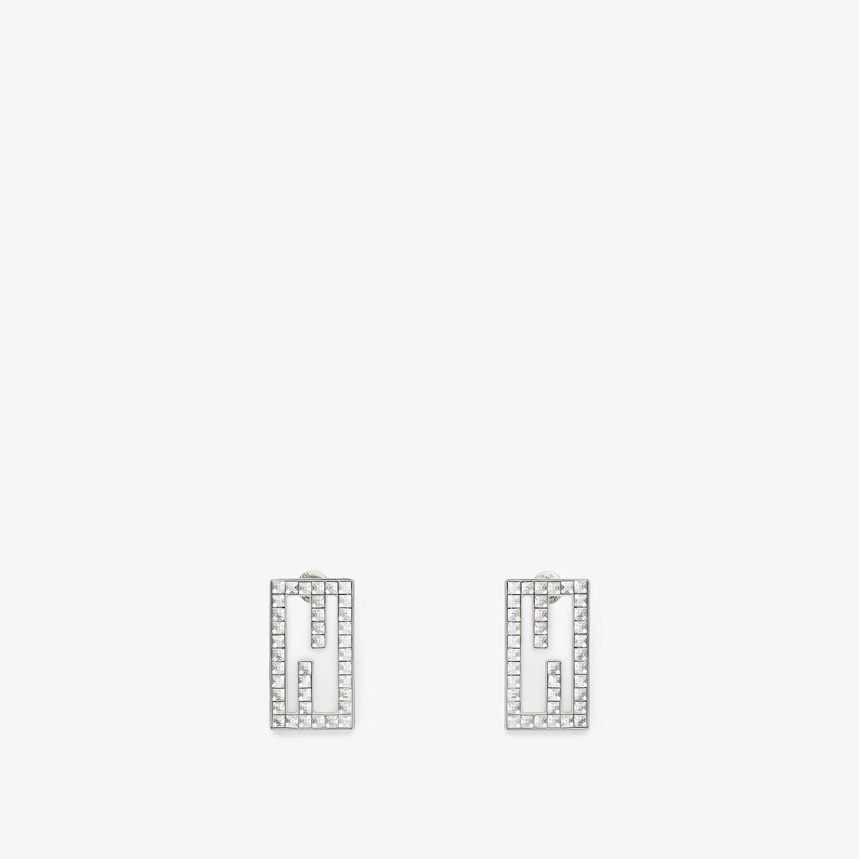 FENDI BAGUETTE EARRINGS - Silver-colored earrings - view 1 detail