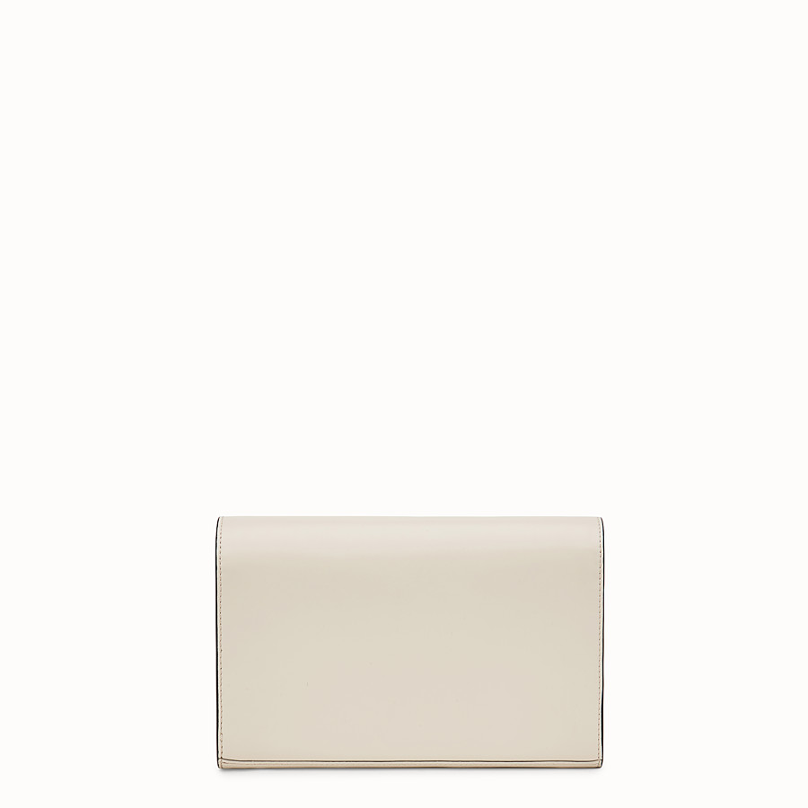 FENDI WALLET ON CHAIN - White leather mini-bag - view 3 detail