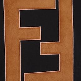 FENDI T-SHIRT - T-Shirt aus schwarzer Baumwolle - view 3 thumbnail