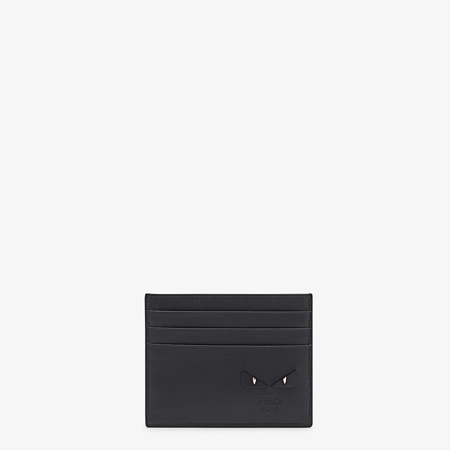 FENDI CARD HOLDER - Black leather card holder with six slots - view 1 detail