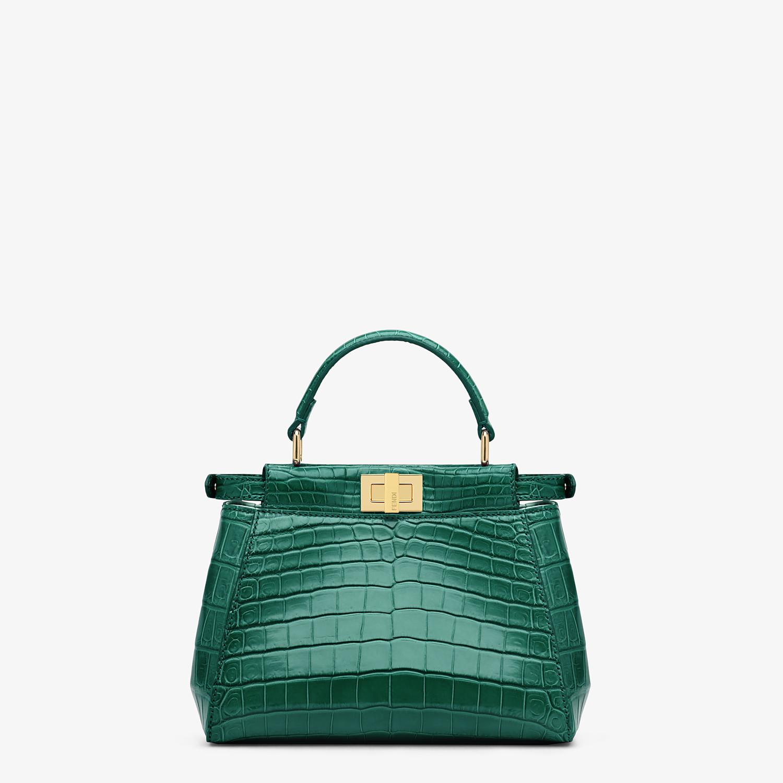 FENDI PEEKABOO MINI - Green crocodile handbag - view 3 detail