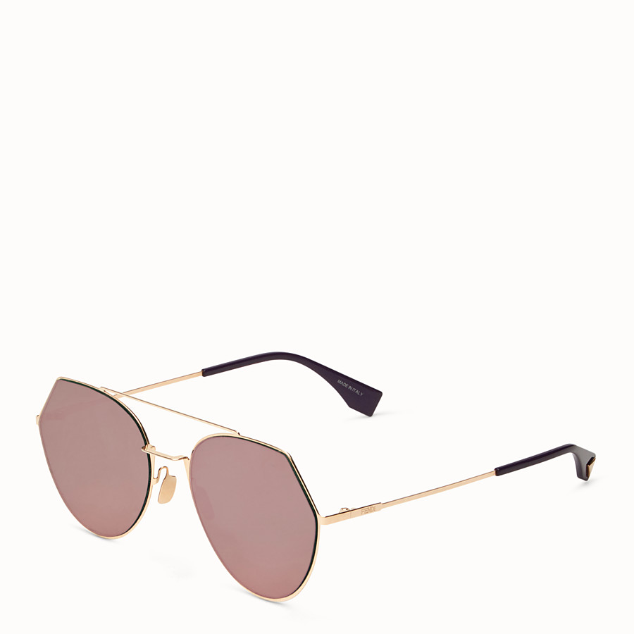 FENDI EYELINE - Gold-colored sunglasses - view 2 detail