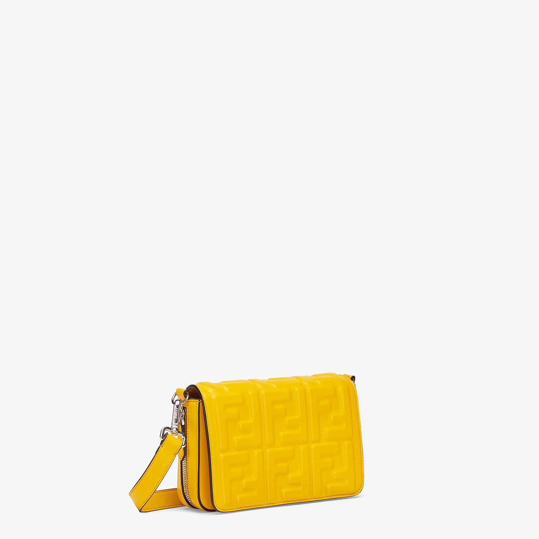 FENDI FLAP BAG - Yellow nappa leather bag - view 2 detail