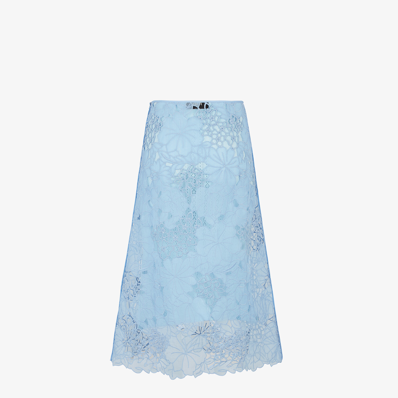 FENDI SKIRT - Light blue lace skirt - view 2 detail