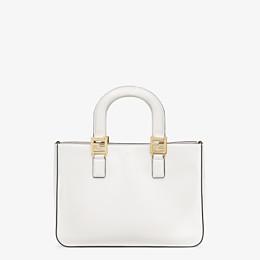 FENDI FF TOTE SMALL - White leather bag - view 1 thumbnail