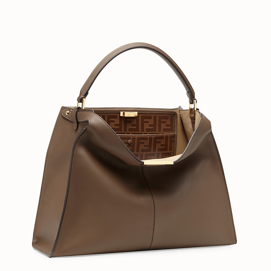 FENDI PEEKABOO X-LITE - Sac en cuir marron - view 4 detail