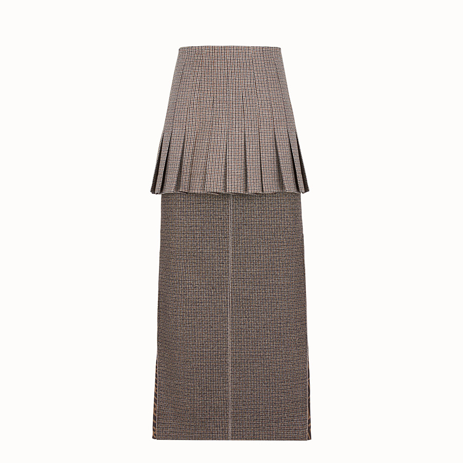 FENDI SKIRT - Micro-check wool skirt - view 1 detail