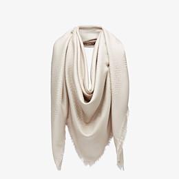 FENDI FF SHAWL - Beige silk and wool shawl - view 2 thumbnail