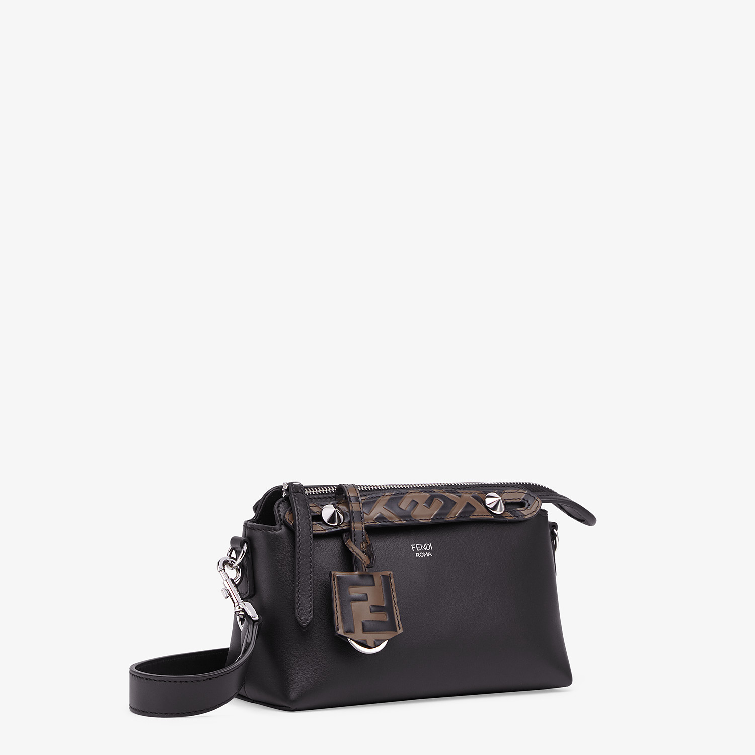 FENDI BY THE WAY MINI - Small black leather Boston bag - view 3 detail