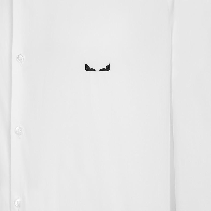 FENDI SHIRT - White cotton shirt - view 3 detail