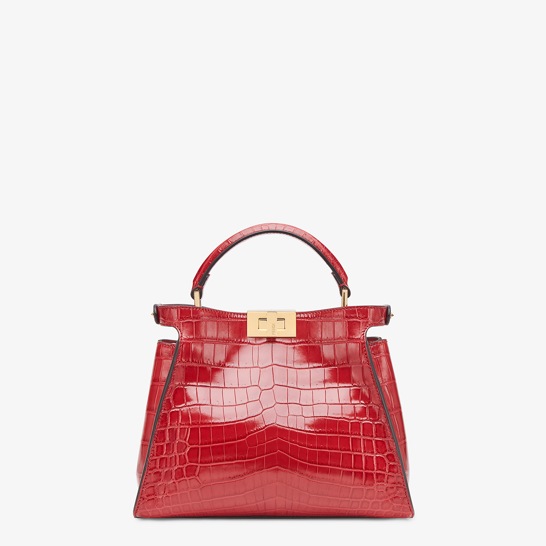 FENDI PEEKABOO ICONIC ESSENTIALLY - Red crocodile leather bag - view 3 detail
