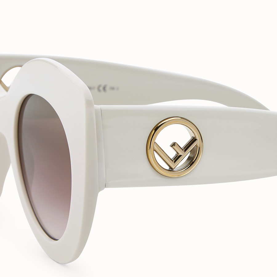 FENDI F IS FENDI - White and brown sunglasses - view 3 detail