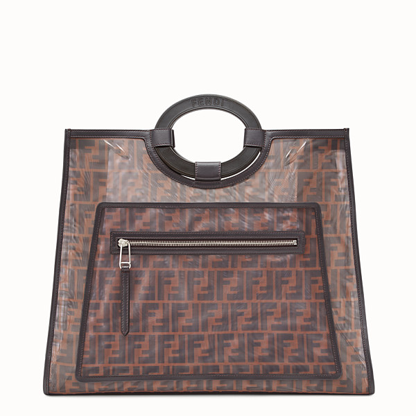 FENDI RUNAWAY SHOPPER - Multicolour mesh shopper - view 1 small thumbnail