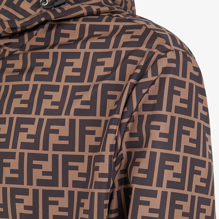 FENDI BLOUSON JACKET - Brown nylon windbreaker - view 3 detail