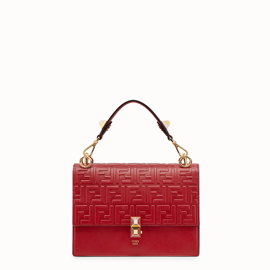 FENDI KAN I - Sac en cuir rouge - view 1 detail