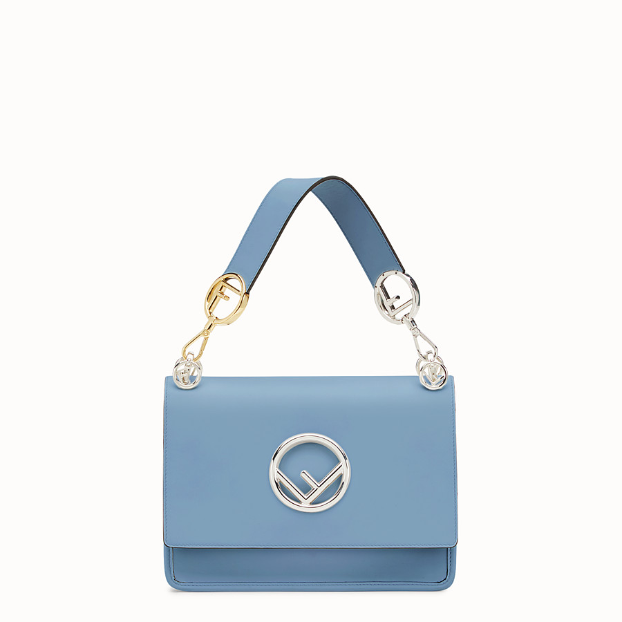 FENDI KAN I LOGO - Blue leather bag - view 1 detail