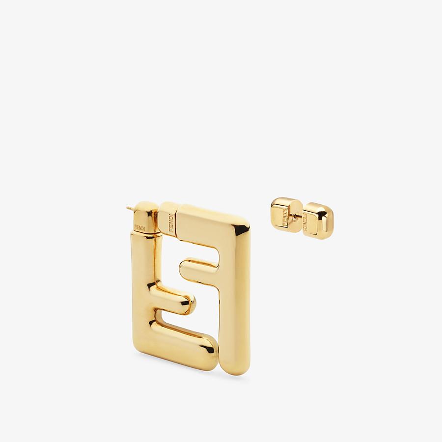FENDI FF EARRINGS SMALL - Gold-colour earrings - view 1 detail