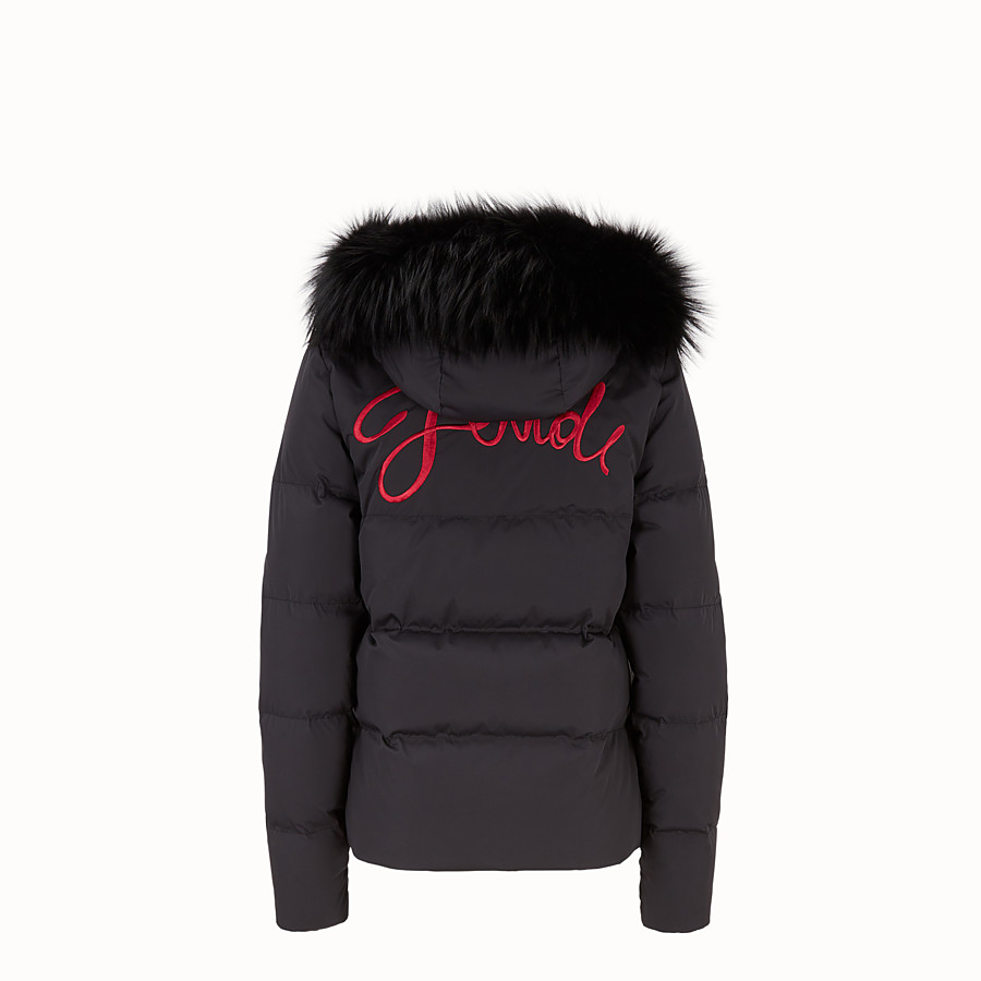 FENDI DOWN JACKET - Black tech fabric down jacket - view 2 detail