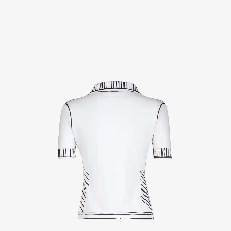 FENDI POLO SHIRT - Fendi Roma Joshua Vides viscose polo shirt - view 2 detail